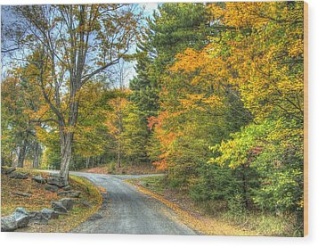 Country Road Wood Print by Chris Hartman Price