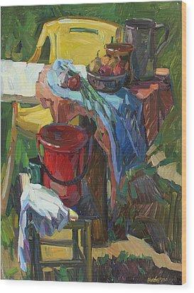 Country Still Life Wood Print