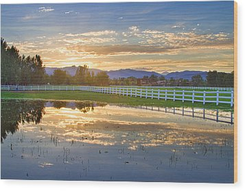 Country Sunset Reflection Wood Print by James BO  Insogna