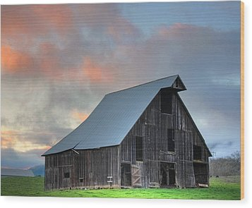 Wood Print featuring the photograph Country Sunset by Tyra  OBryant