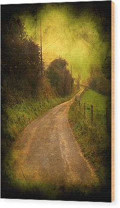 Countryside Road Wood Print by Svetlana Sewell