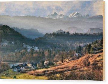 Countryside. Slovenia Wood Print by Juan Carlos Ferro Duque