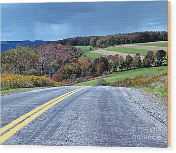 Wood Print featuring the photograph County Road by Christian Mattison