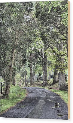 County Roads Wood Print by JC Findley