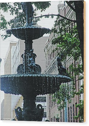 Wood Print featuring the photograph Court Square Memphis by Lizi Beard-Ward