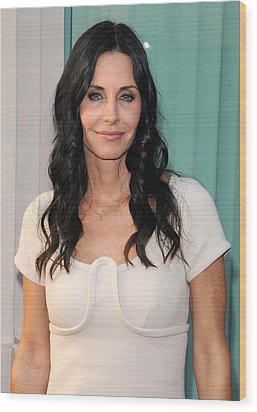 Courteney Cox In Attendance For Atas Wood Print by Everett
