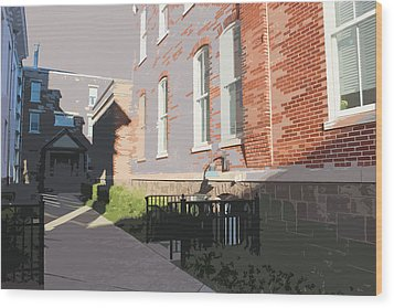 Courthouse Alley Wood Print by Frank Nicolato
