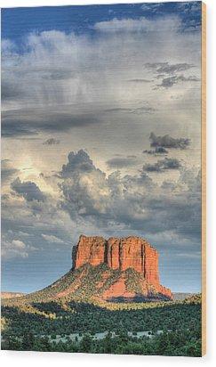Courthouse Rock I - Sedona Arizona Wood Print by Dale Athy