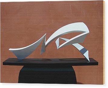 Courtship Of Amphitrite Wood Print by John Neumann