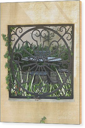 Courtyard Wood Print by Blanche Knake
