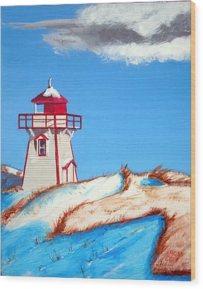 Covehead Harbor Light Wood Print