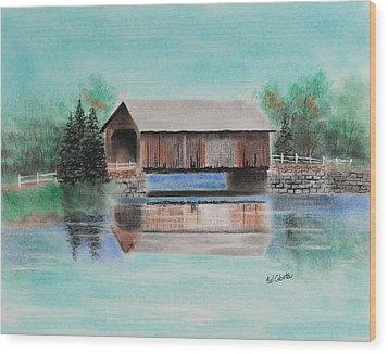 Covered Bridge Allegheny County Wood Print by Paul Cubeta