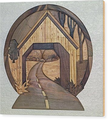 Covered Bridge Wood Print by Bill Fugerer