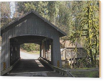 Covered Bridge Wood Print by Garry Kaylor