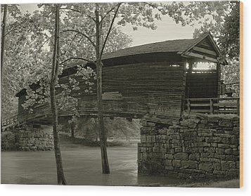 Wood Print featuring the photograph Covered Bridge by Mary Almond