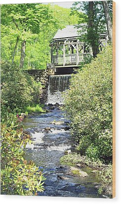 Covered Bridge Wood Print by Sara Walsh