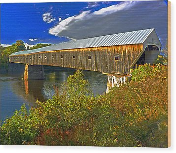 Wood Print featuring the photograph Covered Bridge by William Fields