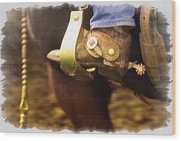 Cowboy Boot Wood Print by Carson Ganci