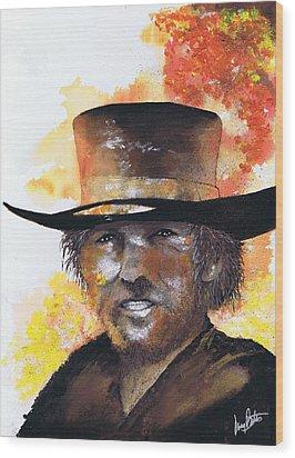 Cowboy Clint  Wood Print