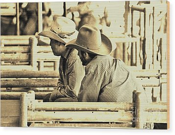 Cowboys Wood Print by Don Youngclaus