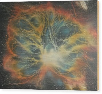 Crab Nebula 2 Wood Print by DC Decker