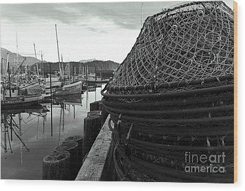 Crab Traps Wood Print by Darcy Michaelchuk