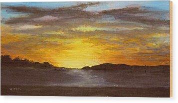 Crack Of Dawn Wood Print