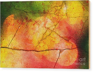 Cracked Kaleidoscope Wood Print by Silvia Ganora