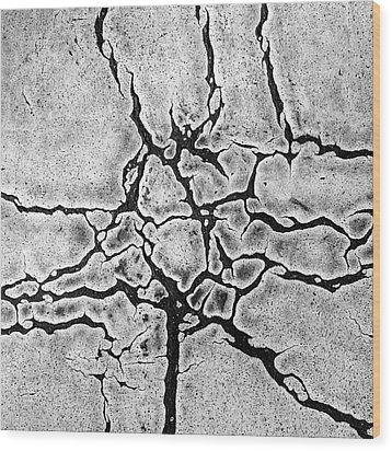 Cracks Wood Print by Gerard Hermand
