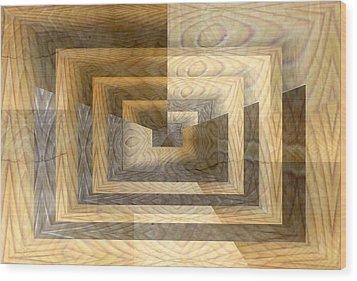 Cracks In The Veneer Wood Print by Tim Allen