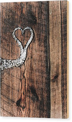 Wood Print featuring the photograph Crafted Heart by Michelle Joseph-Long