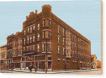 Craig And Sons Department Store In Cambridge Oh Wood Print by Dwight Goss