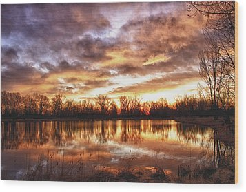 Crane Hollow Sunrise Boulder County Colorado Hdr Wood Print by James BO  Insogna