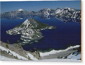 Crater Lake National Park, Oregon Wood Print by Raymond Gehman