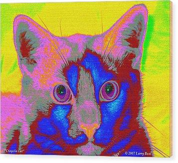 Crayola Cat Wood Print