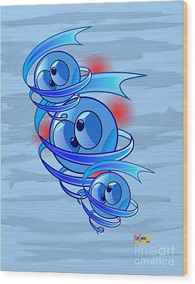Crazy Blue Eyes Wood Print by Rod Seeley
