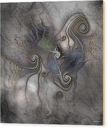 Wood Print featuring the digital art Creatively Calcified by Casey Kotas