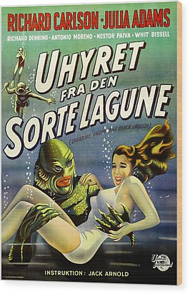 Creature From The Black Lagoon, Aka Wood Print by Everett