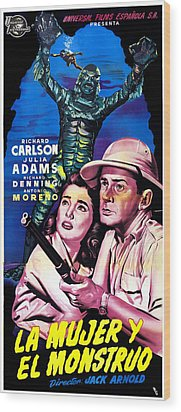 Creature From The Black Lagoon, Aka La Wood Print by Everett