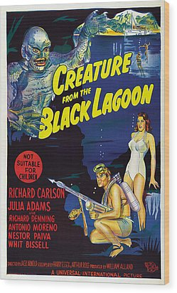 Creature From The Black Lagoon, Bottom Wood Print by Everett