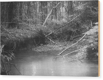 Creek Wood Print by Floyd Smith