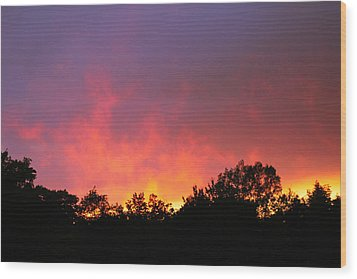 Crepuscule Wood Print by Bruce Patrick Smith