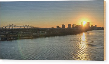 Wood Print featuring the photograph Crescent City Sunset by Ray Devlin