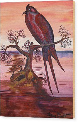 Crested Swift Wood Print