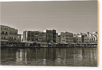 Wood Print featuring the photograph Crete Reflected by Eric Tressler