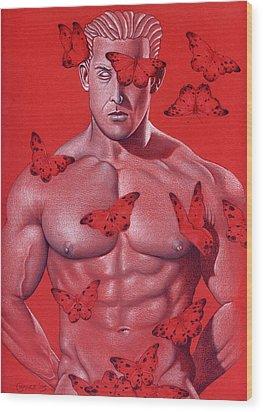 Crimson Flight Wood Print by Chance Manart