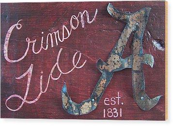 Crimson Tide Wood Print by Racquel Morgan