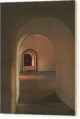 Wood Print featuring the photograph Cristobal Corridor by Deborah Smith