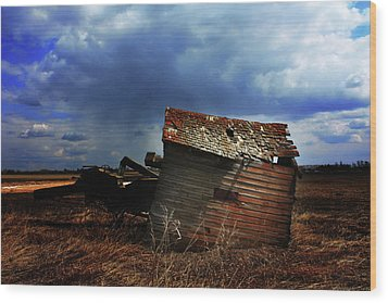 Crooked Breeze One Wood Print by Empty Wall
