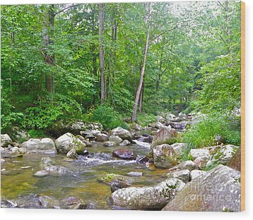 Wood Print featuring the photograph Crooked Creek by Eve Spring